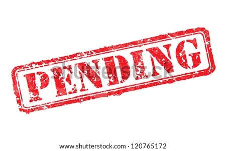Pending rubber stamp - stock photo