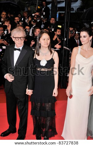 "Penelope Cruz & Woody Allen & Soon-Yi at the gala premiere of ""Vicky Cristina Barcelona"" at the 61st Annual Film Festival de Cannes. May 17, 2008 Cannes, France. By: Paul Smith / Featureflash"
