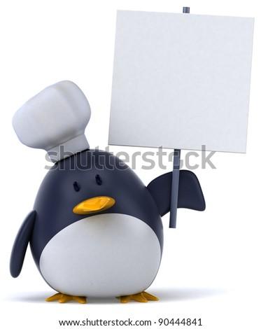 Penguin chef - stock photo