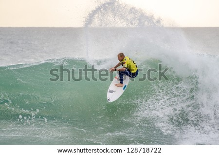 PENICHE, PORTUGAL - OCTOBER 14 : Adam Melling (AUS) during the Rip Curl men's Pro Portugal, October 14, 2012 in Peniche, Portugal - stock photo