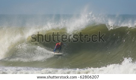 PENICHE, PORTUGAL - OCTOBER 11 : Kelly Slater (USA) in Rip Curl Pro 2010 round 2 October 11, 2010 in Peniche, Portugal
