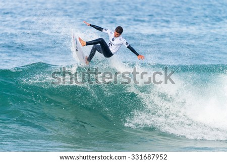 PENICHE, PORTUGAL - OCTOBER 23, 2015: Mason Ho (HAW) during the Moche Rip Curl Pro Portugal, Men's Samsung Galaxy Championship Tour #10.
