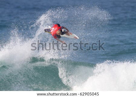 PENICHE, PORTUGAL - OCTOBER 12 :Mick Fanning (AUS) in Men's Rip Curl Pro Portugal 2010, October 12, 2010 in Peniche, Portugal