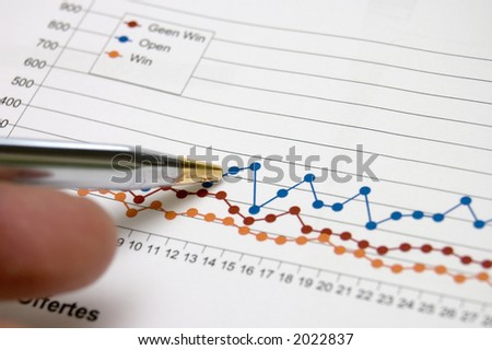 penn pointing at business chart