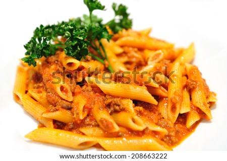Penne Pasta - stock photo