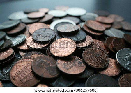 Pennies Stock Photo High Quality