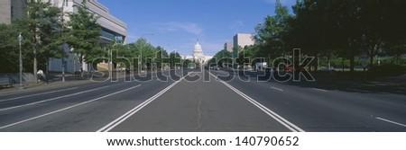 Pennsylvania Avenue in Washington DC - stock photo