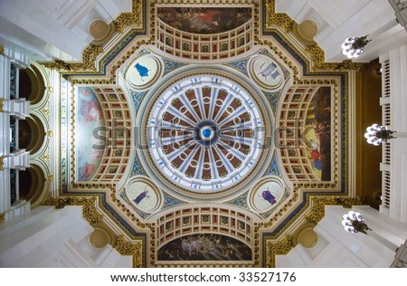 Pennsylvania State Capitol building rotunda - stock photo