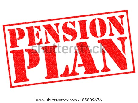 PENSION PLAN red Rubber Stamp over a white background. - stock photo