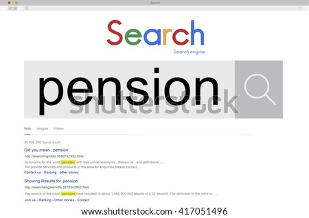 Pension Retirement Fund Investment Benefits Wage Concept - stock photo