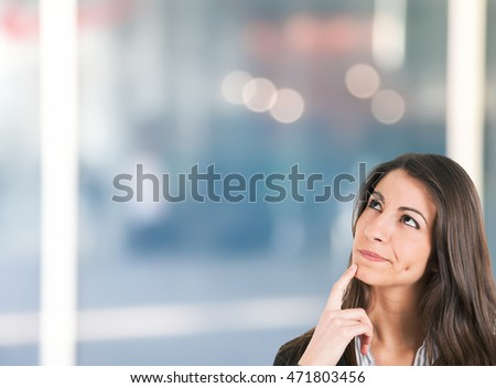 Pensive businesswoman portrait