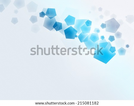 Pentagon / polygon shape with light stripe background - stock photo