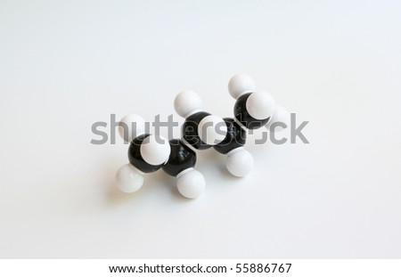 Pentane Molecule (Space-filling) - stock photo