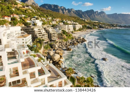 Penthouse estate near beach. Shot in Cape Town, South Africa.  - stock photo