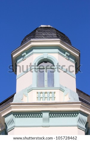 Penthouse with bay window - stock photo