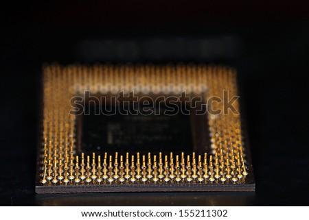 Pentium microprocessor - stock photo