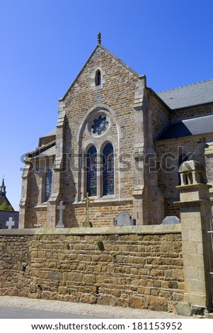 Penvenan church in Brittany, North of France