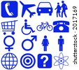 People and transportation icons and signs - stock photo