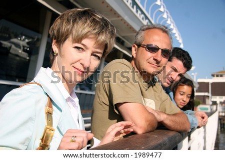 People are about to go on a cruise - stock photo