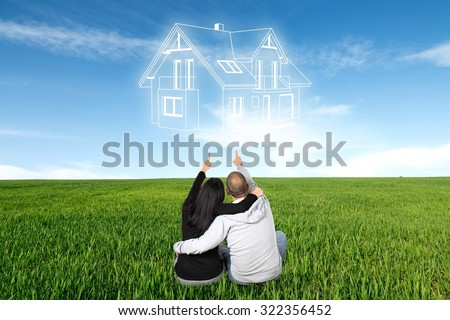people are dreaming about a new home - stock photo