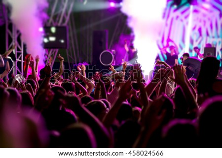 People at concert party