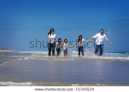 People at the beach - stock photo