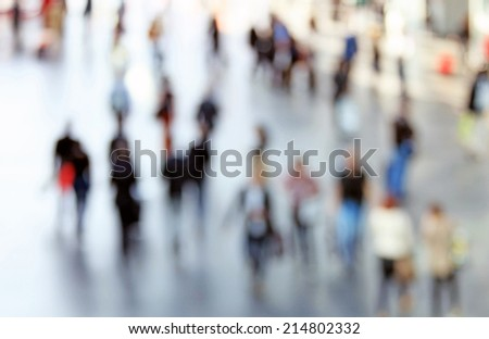 People background, abstract. Intentionally blurred. - stock photo