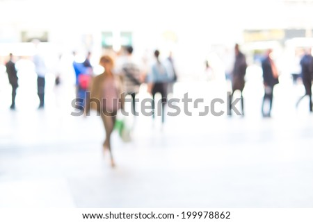 People background, intentionally blurred - stock photo