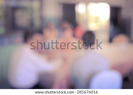 people blur in meeting room - stock photo