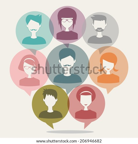 people chatting - stock photo