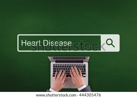 PEOPLE COMMUNICATION HEALTHCARE  HEART DISEASE TECHNOLOGY SEARCHING CONCEPT - stock photo