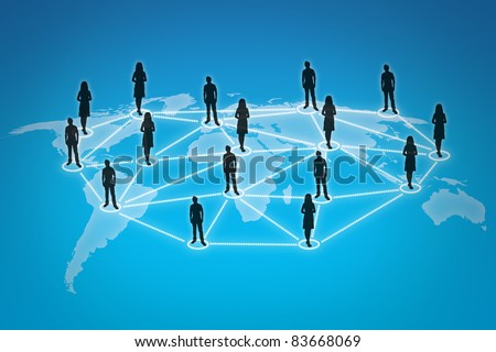 People connections - stock photo