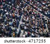 people crowd in arena stadium - stock photo