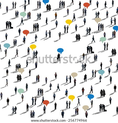 People Diversity Community Large Group Concept - stock photo