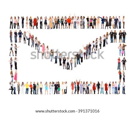 People Diversity Isolated Groups  - stock photo