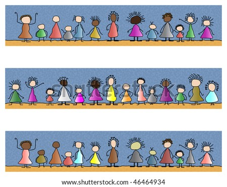 people friends world races together unity - stock photo