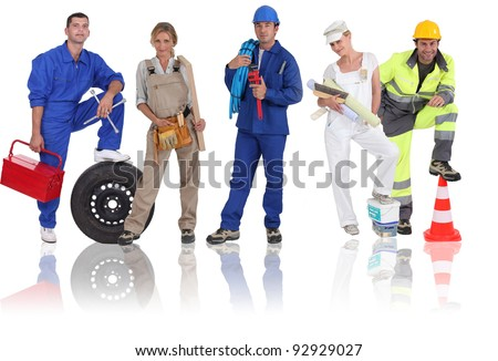 People from different trades - stock photo