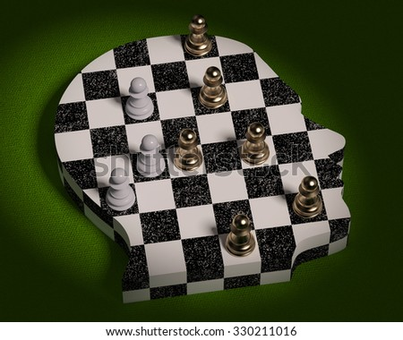 people games field,chess,chess Board - stock photo