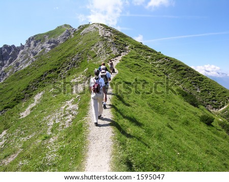 People Going to the Top - stock photo