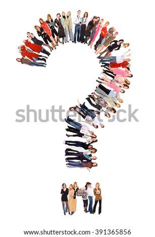 People Group Big Image  - stock photo