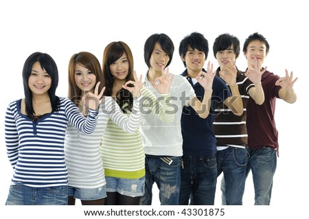 people group with ok gesture