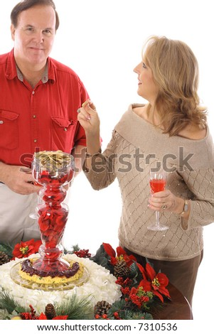 People having appetizers - stock photo