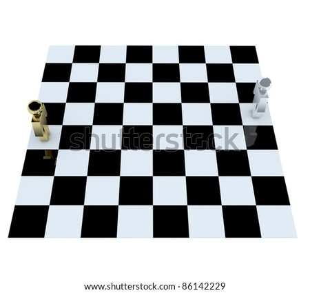 People in game chess board  for success.