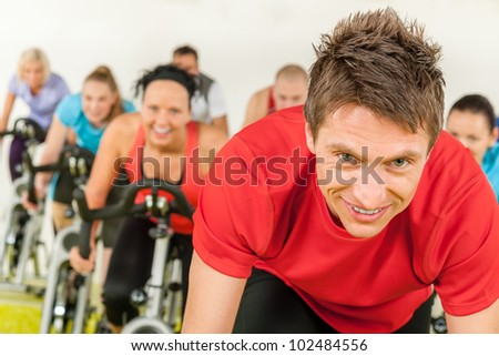 People in gym or fitness club exercise cardio training - stock photo