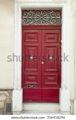 Grand solid looking red front door stock photo 1635014 What kind of paint to use on exterior door