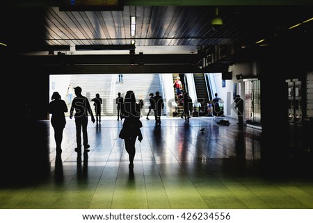 People in Subway Station - stock photo