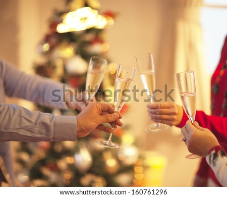 people making good cheer - stock photo