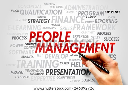 People Management word cloud, business concept - stock photo