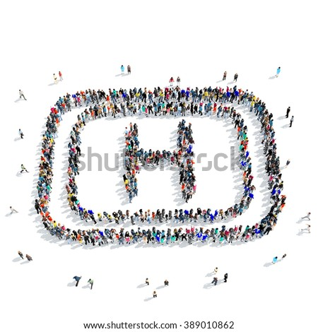 people  medical sign icon - stock photo