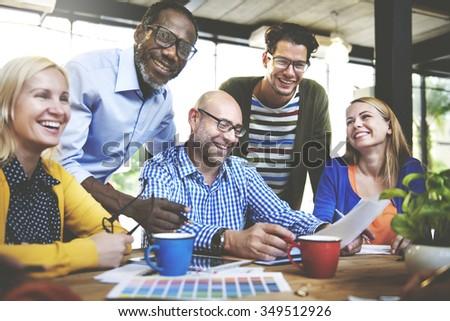 People Meeting Design Studio Creativity Ideas Imagination Concept - stock photo
